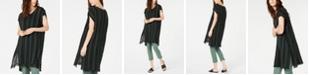 Eileen Fisher Cotton Striped Caftan Top, Regular & Petite