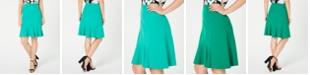 Nine West Flare-Hem Skirt