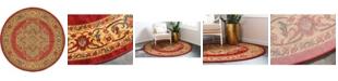 Bridgeport Home Harik Har9 Red 6' x 6' Round Area Rug