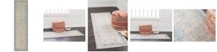 """Bridgeport Home Bellmere Bel4 Gray 2' 7"""" x 10' Runner Area Rug"""