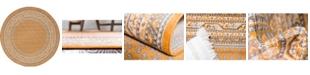 Bridgeport Home Axbridge Axb1 Orange 5' x 5' Round Area Rug