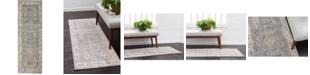 Bridgeport Home Bellmere Bel5 Gray 2' x 6' Runner Area Rug