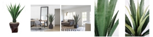 "Laura Ashley 60.5"" Agave, Indoor/Outdoor in Fiberstone Planter"