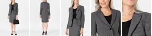 Le Suit Geo-Plaid Skirt Suit