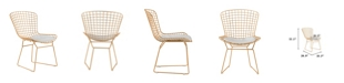 Elle Decor Holly Wire Side Chair, Set of 2