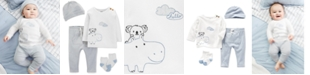 Carter's Baby Boys 4-Pc. Hippo Graphic Cotton Top, Pants, Hat & Socks Set