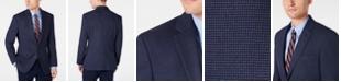 Tommy Hilfiger Men's Modern-Fit THFlex Stretch Blue/Burgundy Tic Sport Coat