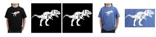 LA Pop Art Big Boy's Word Art T-Shirt - Tyrannosaurus Rex