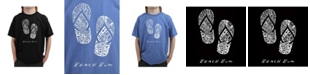 LA Pop Art Big Boy's Word Art T-Shirt - Beach Bum