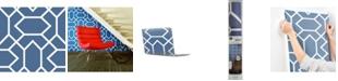 York Wallcoverings Blue Modern Geometric Peel & Stick Wallpaper