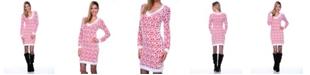 White Mark Women's Angora Like Sweater Dress