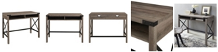 Walker Edison Farmhouse Metal and Wood Desk