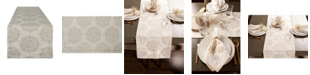 Design Import Winter Sparkle Jacquard Table Runner