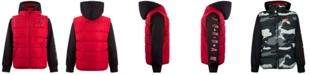 Jordan Toddler Boys Layered-Look Hooded Puffer Jacket