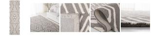 "Lauren Ralph Lauren Imani Geometric LRL6609F Sepia 2'3"" X 8' Runner Area Rug"