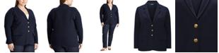 Lauren Ralph Lauren Plus Size Cotton Blazer
