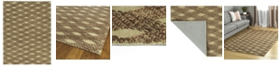 "Kaleen Tulum Jute TUL02-40 Chocolate 7'6"" x 9' Area Rug"