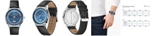 Lacoste Men's Madrid Black Leather Strap Watch 41mm