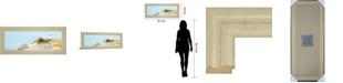 "Classy Art Beachscape I by James Mcloughlin Framed Print Wall Art, 18"" x 42"""