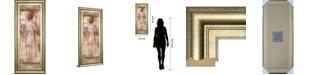 """Classy Art Grecian Bath II by Fressinier Framed Print Wall Art, 18"""" x 42"""""""