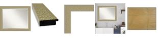 "Amanti Art Mosaic Gold-tone Framed Bathroom Vanity Wall Mirror, 32.25"" x 26.25"""
