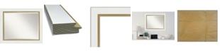 "Amanti Art Eva Gold-tone Framed Bathroom Vanity Wall Mirror, 33.25"" x 27.25"""