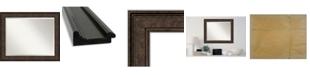 "Amanti Art Ridge Framed Bathroom Vanity Wall Mirror, 33.5"" x 27.50"""