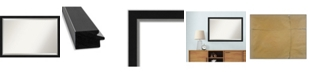 "Amanti Art Eva Silver-tone Framed Bathroom Vanity Wall Mirror, 39.12"" x 27.12"""