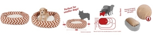 Majestic Pet Chevron Sherpa Bagel Dog Bed