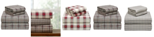 Pointehaven Plaid Flannel Queen Sheet Set