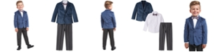 Nautica Toddler Boys Regular-Fit 4-Pc. Polka Dot Velvet Suit Set