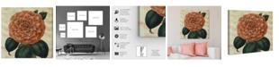 "Oliver Gal Striped Camellia Peach Canvas Art, 43"" x 43"""