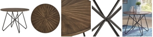 iNSPIRE Q Webber Round Dining Table with Iron Legs