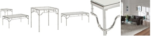 iNSPIRE Q Gennadi 2-Piece Metal Occasional Table Set with Glass Top