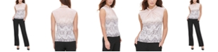 Calvin Klein Chain-Detail Twist-Neck Top