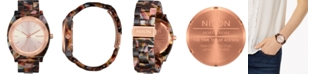 Nixon Women's Time Teller Tortoise Bracelet Watch 40mm