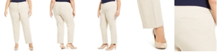 Charter Club Plus Size Straight-Leg Pants, Created for Macy's