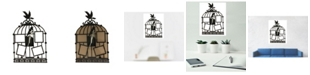 Creative Motion Artistic Acrylic Clock with 4 Frames Bird Cage Design