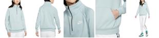 Nike Women's Sportswear Essential Quarter-Zip Fleece Top