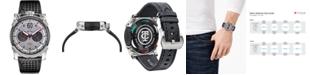 CT Scuderia Men's Swiss Chronograph Carbon Fiber Black Leather Strap Watch 44mm