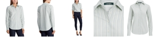 Lauren Ralph Lauren Striped Cotton Long-Sleeve