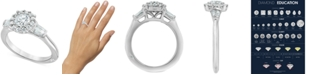 Marchesa Diamond Halo Engagement Ring (1-1/4 ct. t.w.) in 18k White Gold