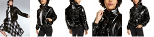 Kit & Sky Faux-Leather Puffer Jacket