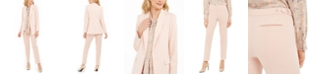 Calvin Klein Open-Front Blazer, Floral-Print Blouse & Tapered Pants