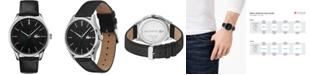 Lacoste Men's Vienna Black Leather Strap Watch 42mm