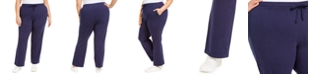 Karen Scott Plus Size Knit Drawstring Pants, Created for Macy's