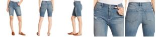 Ella Moss Denim Ripped Bermuda Shorts