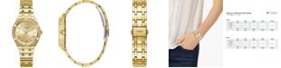 GUESS Women's Gold-Tone Stainless Steel Bracelet Watch 36mm