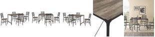 Walker Edison 5-Piece Industrial Angle Iron Dining Set