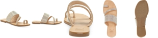 INC International Concepts INC Gianolo Embellished Toe-Ring Flat Sandals, Created for Macy's